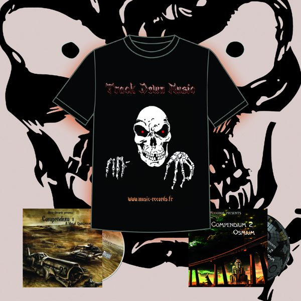 "Pack T-shirt Track Down Music ""TDM"" Music-Records"