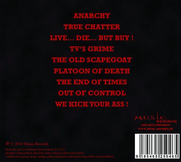 Tracklist Thrash Impact Psychoid