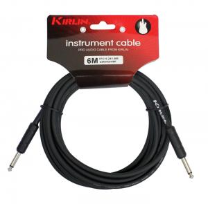 CABLE GUITARE KIRLIN 1M JACK JACK NOIR rock metal market music records