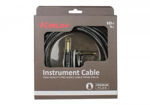 CABLE GUITARE KIRLIN 6M JACK JACK COUDE prenium plus wave rock metal market music rcords