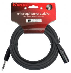 CABLE MICRO KIRLIN 6M XLR F-JACK ST NOIR rock metal market music records