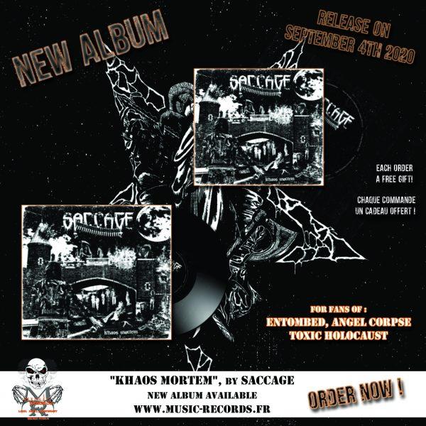 SACCAGE Khaos Mortem Pack Music Records Rock Metal Market