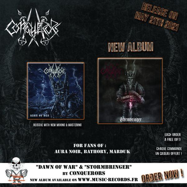 CONQUERORS Dawn Stormbringer Pack Music Records Rock Metal Market