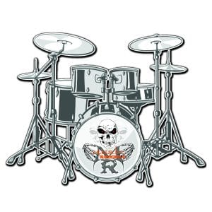 T-Shirt Drums Rock rock-metal-market-music-records