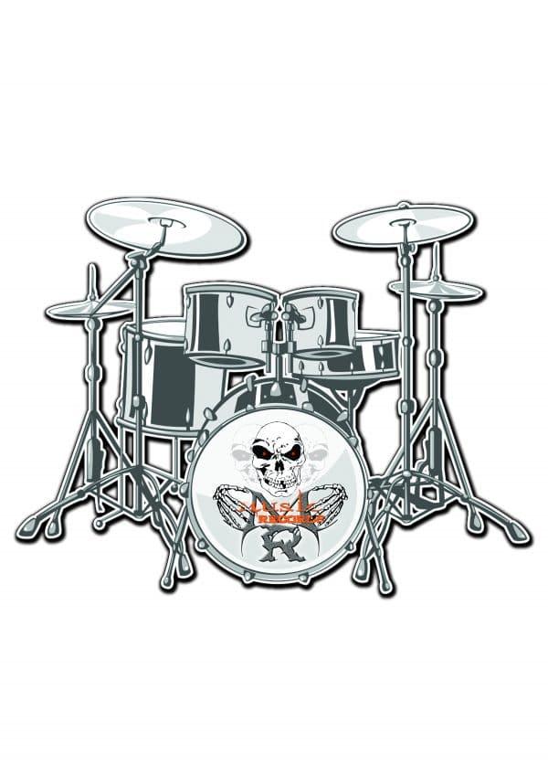T-Shirt Drums Rock rock-metal-market-music-records