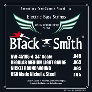 JEU BLACK SMITH BASSE 4 CORDES 45-105 34 rock-metal-market-music-records-france